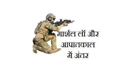 मार्शल लॉ और आपातकाल