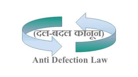दल-बदल कानून UPSC। anti defection law in hindi