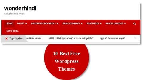 best free wordpress themes for blogging